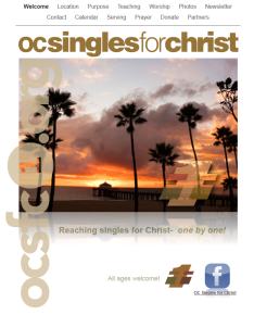 orange county singles for christ